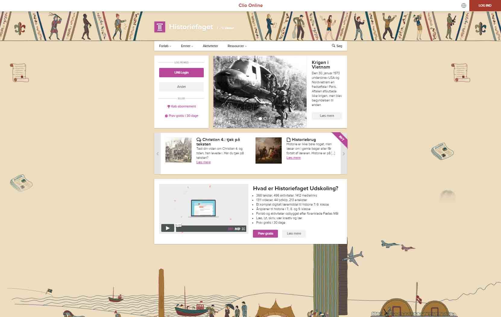 clio online historiefaget